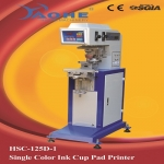 semi-auto single color sealed cup pad printing machine for sale HSC-125D/1