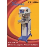 two color ink cup pad printing machine with shuttle HSC-125D/S