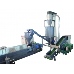 PE, HDPE, LDPE film or cable recycling, pellet machine, power-saving with high output