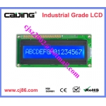 blue white 5V 16x1 character lcd module support parallel interface