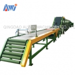 Tyre tread extruder cooling line