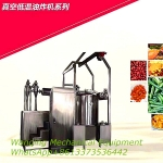 Stainless steel Vacuum low temperature frying machine for fruits/vegetables