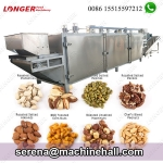 300 KG Continuous Pistachio Walnut Pine Nut Roasting Machine Gas Heated